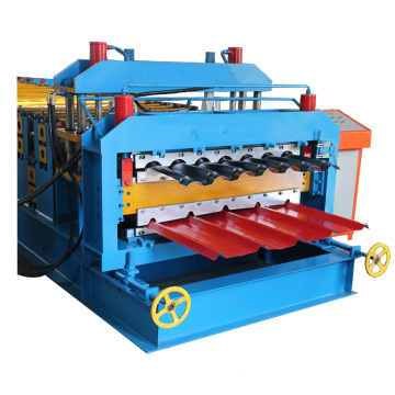 Double layer roofing panel production line